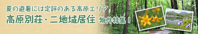 夏の避暑向け高原別荘・二地域居住物件特集